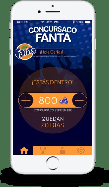 diseño para Fanta, El consursaco de Fanta, Diseño Android, Diseño iOS, Diseño de apps, diseño UX/UI, diseño UX, diseño UI, Design UX/UI, Design Apps