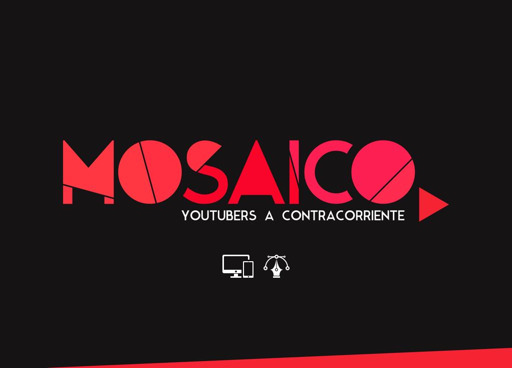 Identidad Corporativa, diseño de logo, diseño web, diseño gráfico, after effects, animación logo, mosaico, youtubers